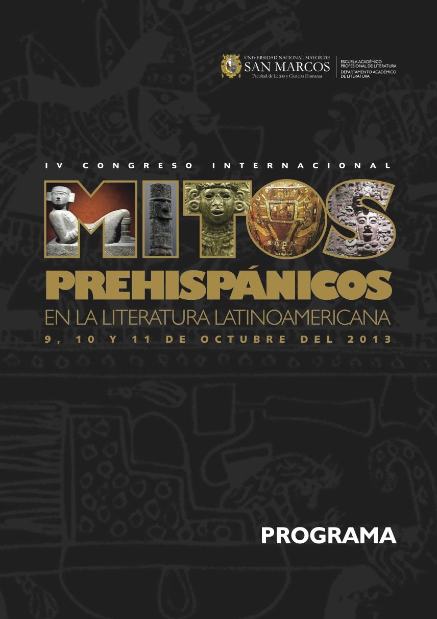PROGRAMA IV CONGRESO MITOS PREHISPÁNICOS