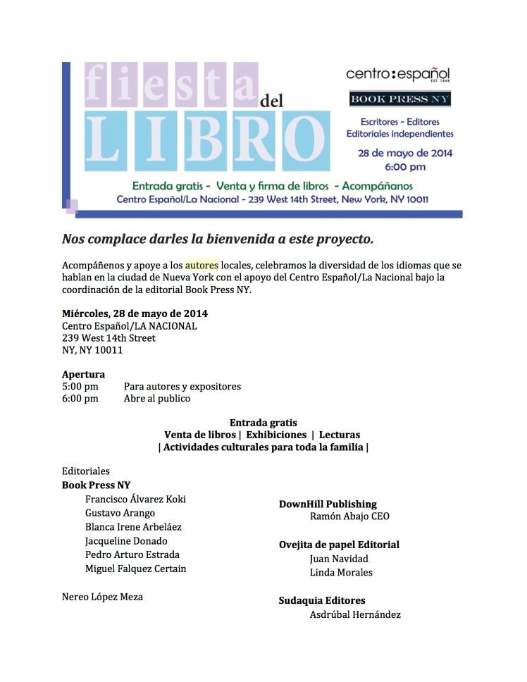 Fiesta del libro Mayo 28 2014