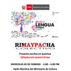 Presentacion de Libros en lenguas originarias. Ministerio de Cultura