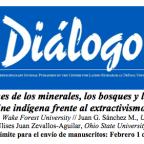 """Convocatoria a numero de la Revista Dialogo: """"Guardianes de los minerales, los bosques y las aguas. Arte, literatura y cine indígena frente al extractivismo en Latinoamérica"""""""
