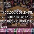 IX COLOQUIO DE LENGUA Y CULTURA EN LOS ANDES JOSÉ ANTONIO SULCA EFFIO